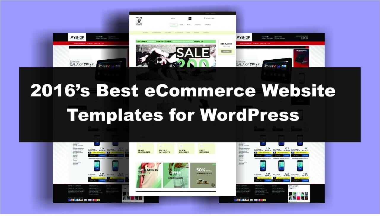 S Best ECommerce Website Templates For WordPress BloggDude - Buy web templates