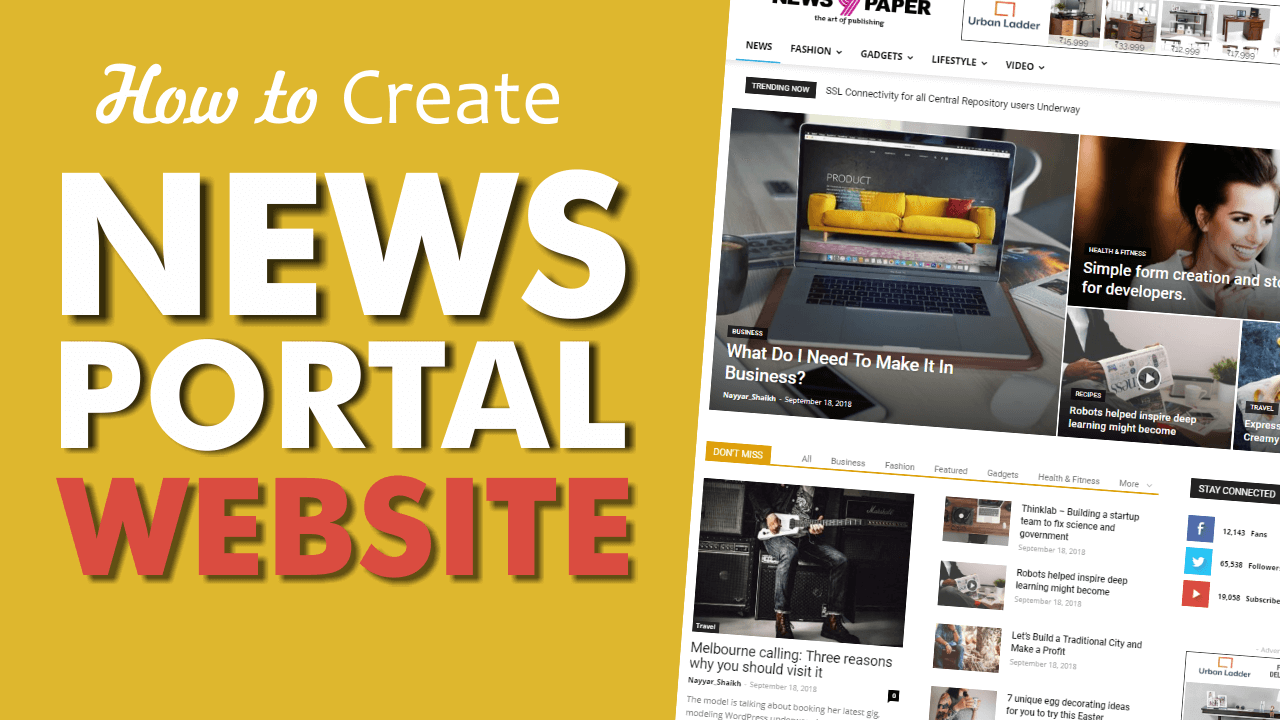 Read more about the article How to Make a News Portal, Magazine & Blog Website with WordPress 2018 – Newspaper Theme