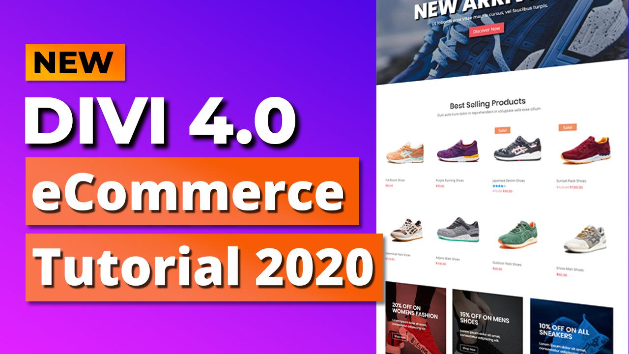 How to Create an eCommerce Website with Divi 4.0 and WordPress – ONLINE STORE 2020!