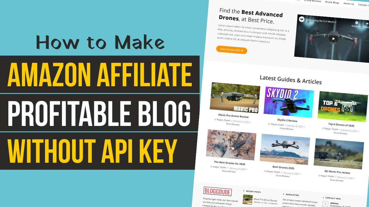 How to Make MONEY MAKING Affiliate Marketing Blog FOR FREE using WordPress – Without Amazon API KEY