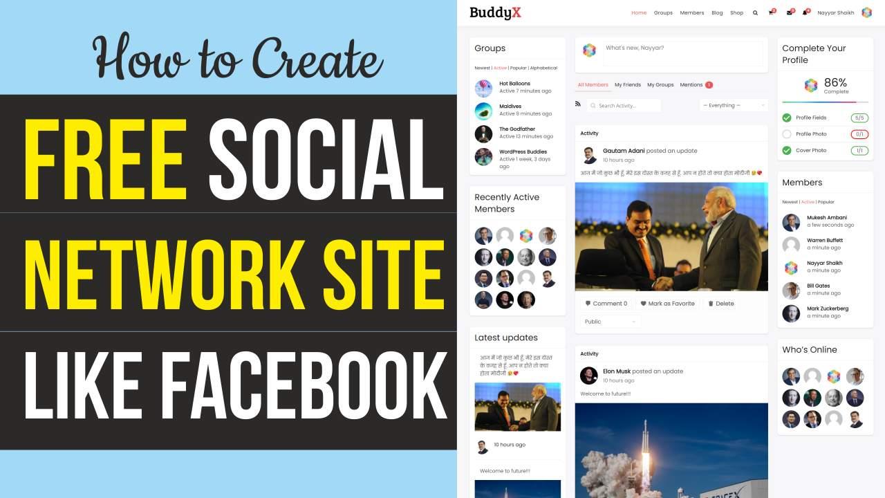 How to Make a Social Networking & Community Website like Facebook with WordPress & BuddyX BuddyPress