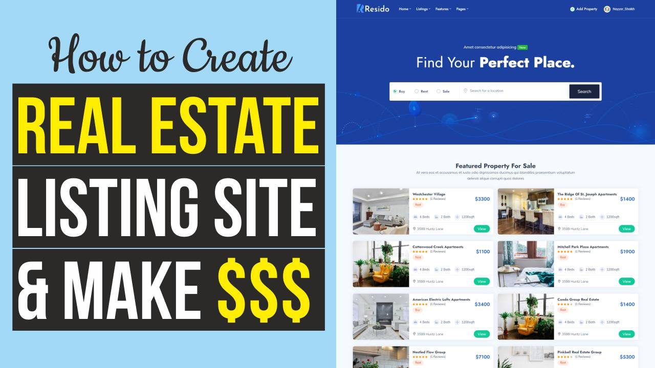 Read more about the article How to Make a Real Estate Listing & Directory Website with WordPress – Resido Theme